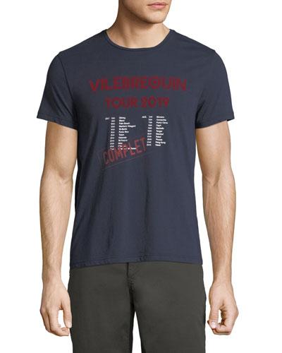 Men's Band Tour Graphic Cotton T-Shirt