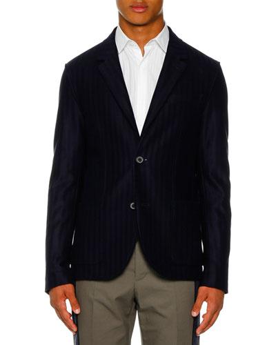 Men's 2-Button Deconstructed Jersey Jacket