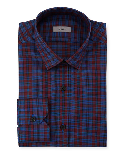 Men's Fitted Check Dress Shirt