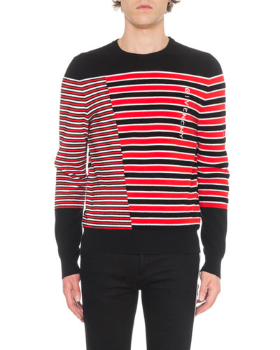 Men's Mixed Knitted Sweater