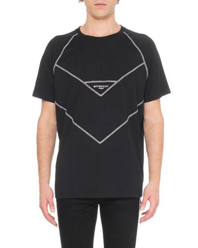 Men's V Cut Design T-Shirt