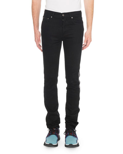 Men's Stretch Denim Logo Jeans