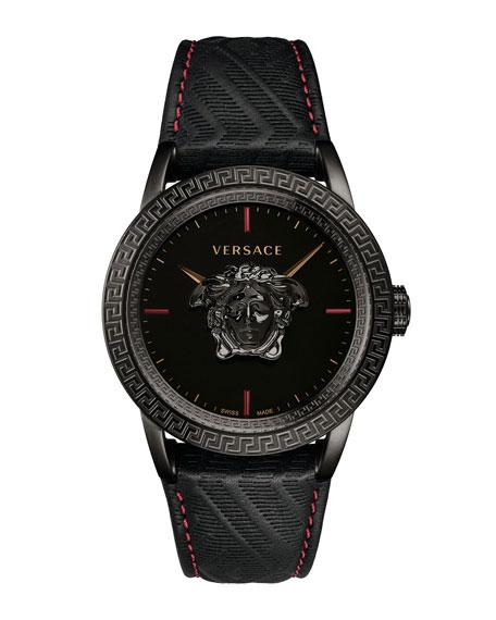 Versace Watches MEN'S 43MM PALAZZO EMPIRE WATCH, BLACK