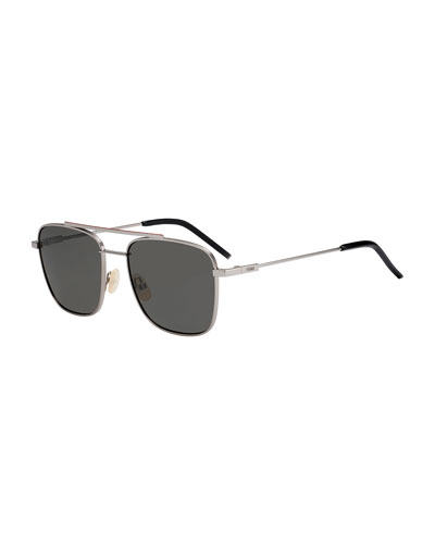 Men's Square Metal Navigator Sunglasses