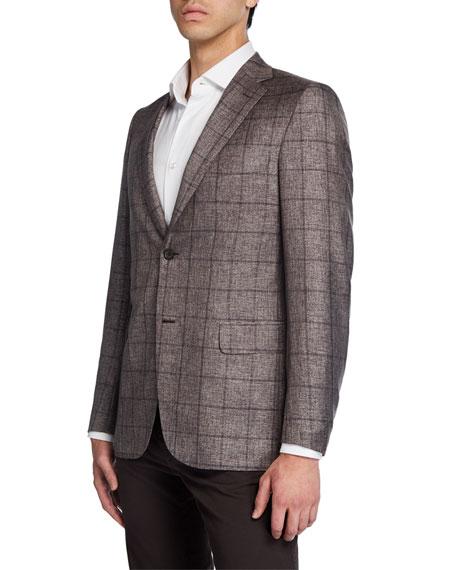 Men's Windowpane Two-Button Jacket