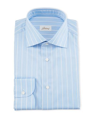 Men's Reverse Stripe Dress Shirt