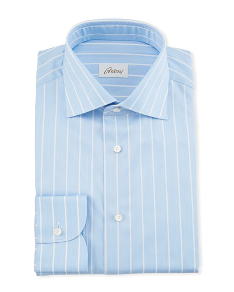 Brioni Men's Reverse Stripe Dress Shirt