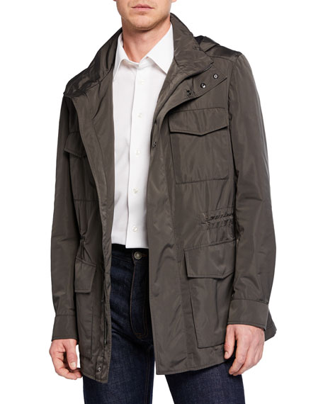 Brioni Men's Silken Safari Jacket