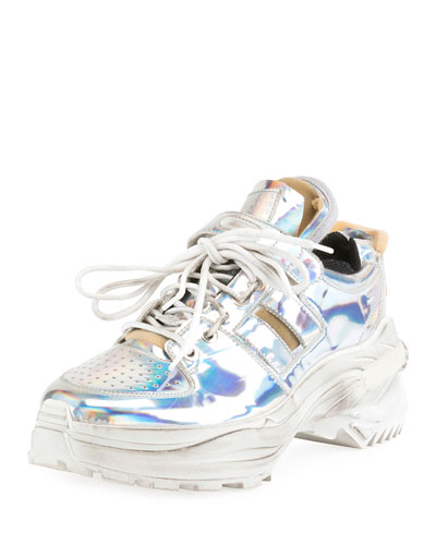 Men's Artisanal Metallic  Trainer Sneakers