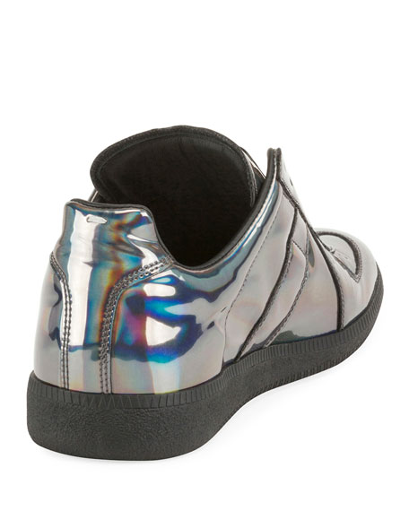 dc2118268985d Maison Margiela Men S Replica Hologram Low-Top Sneakers In Gray ...