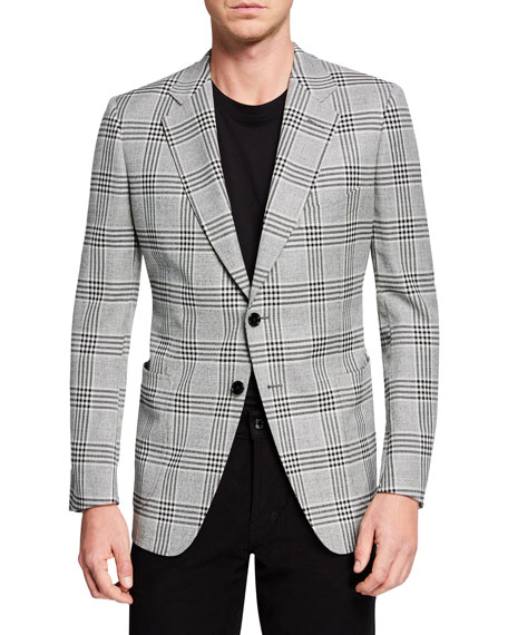 Men's O'Connor Plaid Two-Button Jacket
