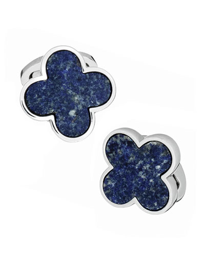 Lapis Clover Cuff Links