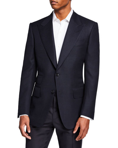Men's Windsor Peak-Lapel Plaid Jacket