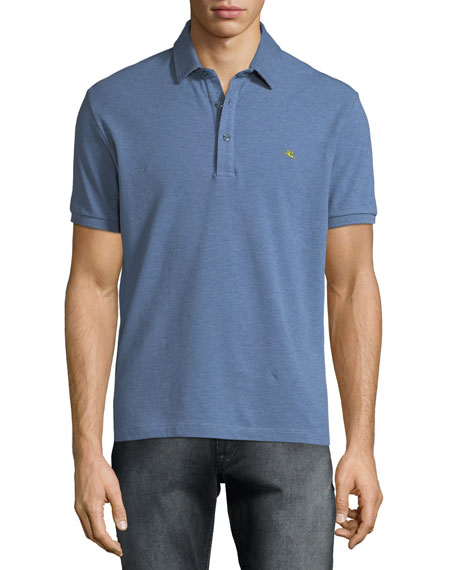 Etro Men's Heathered Polo Shirt