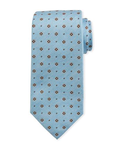 Mini Flower Silk Tie