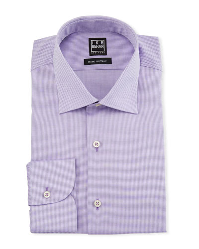 Men's Textured Cotton Dress Shirt