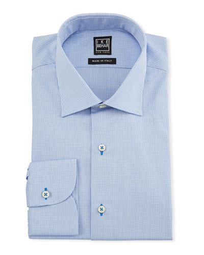 Men's Textured Cotton Dress Shirt