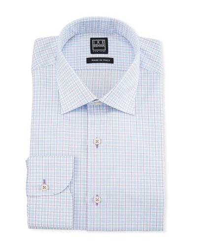 Men's Two-Tone Plaid Dress Shirt