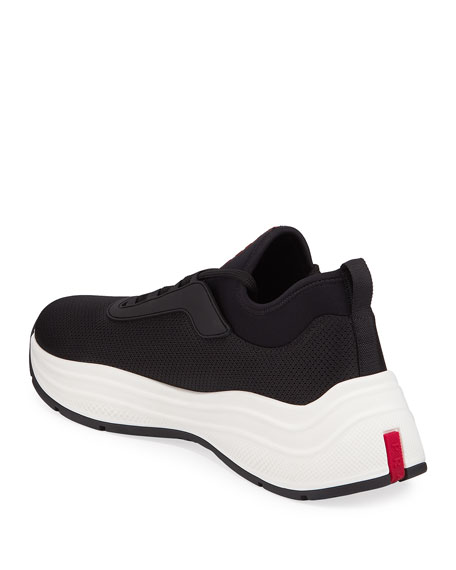 Men's Neoprene Chunky-Sole Lace-Up Sneakers