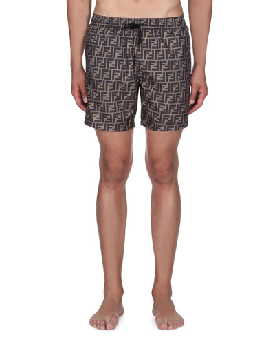 Men's Logo Allover Swim Trunks