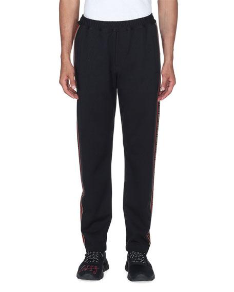 Men's Side-Striped Jersey Joggers