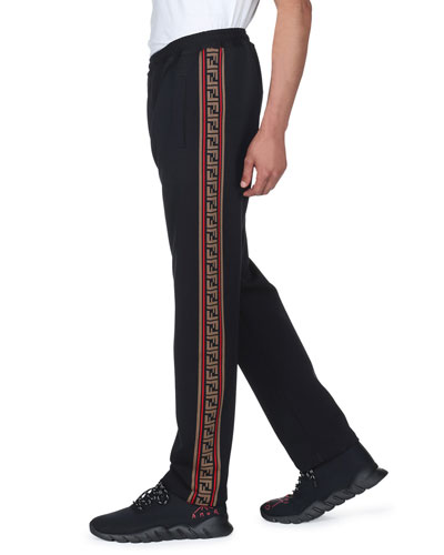 Men's Side-Striped Jersey Joggers