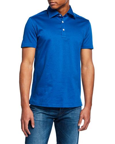 Men's Cotton Knit Polo Shirt  Royal