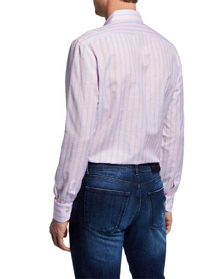 Men's Candy-Stripe Dress Shirt