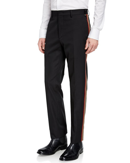 Men's Side-Striped Twill Pants