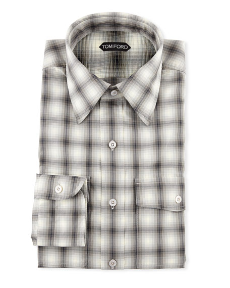 TOM FORD Men's Sport Check Dress Shirt