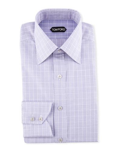Men's Large Plaid Dress Shirt