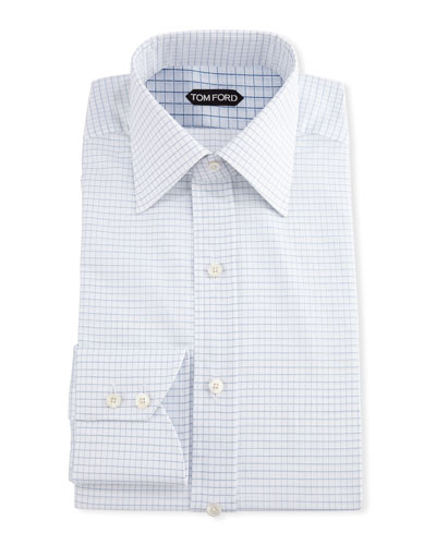 Men's Small Check Dress Shirt