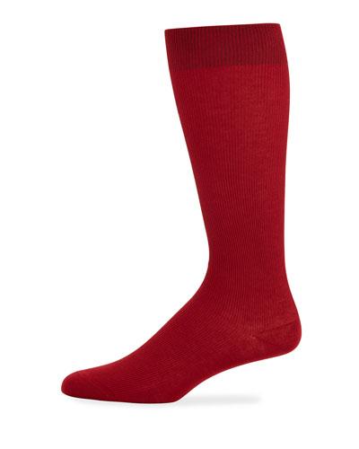 Men's Basic Socks  Red