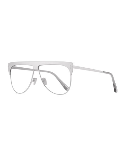 Men's Winter Two-Tone Mirrored Aviator Sunglasses
