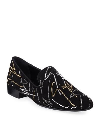 Men's Crystal Evening Slip On Shoes