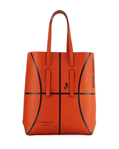 Men's The Catch Basketball Leather Tote Bag