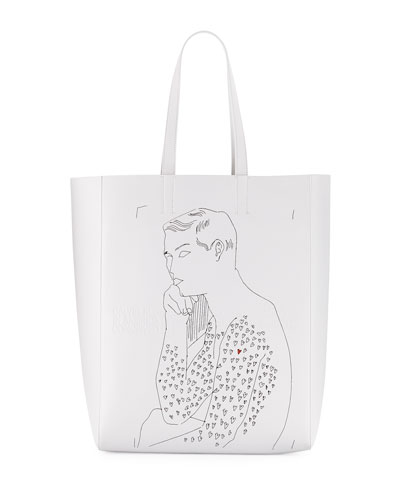 x Andy Warhol Men's Resting Boy Leather Tote Bag