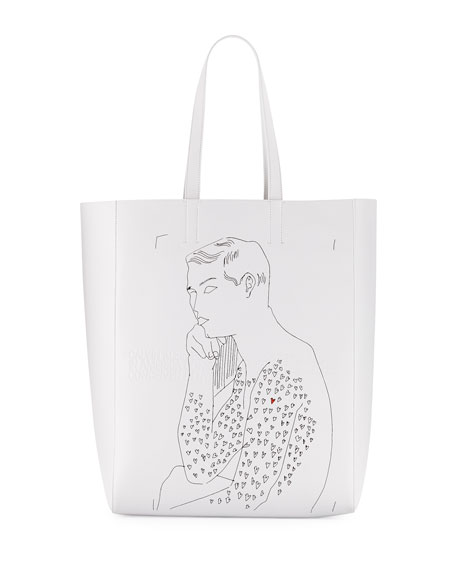 """x Andy Warhol Men's """"Resting Boy"""" Leather Tote Bag"""