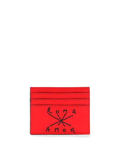 Men's Roma Amor Leather Card Case
