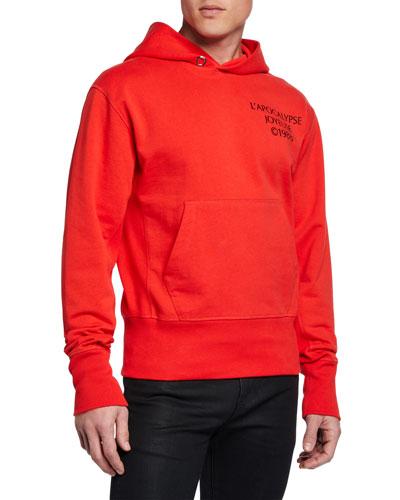 Men's Logo Hack Cotton Pullover Hoodie