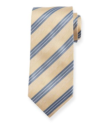 Triple Stripe Silk Tie