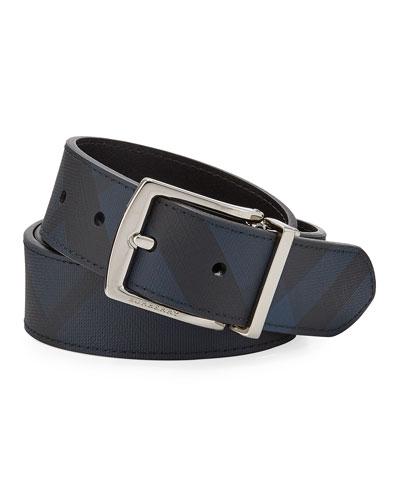 Men's Clarke Tonal Check Belt