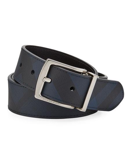 Burberry Men's Clarke Tonal Check Belt