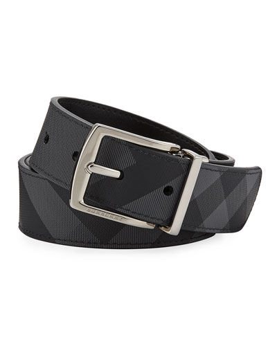 Men's Clarke Two-Tone Check Belt