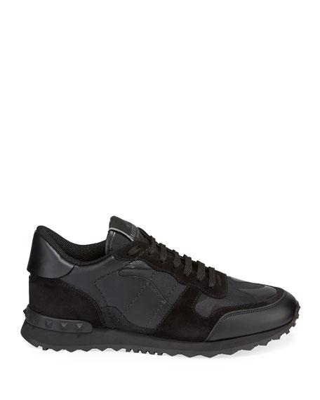 9cfe41d6f0af Valentino Garavani Men s Rockrunner Camo Leather Sneakers