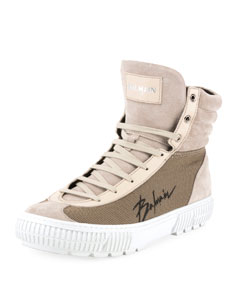 Men's Justin High Top Tech Sneakers by Balmain