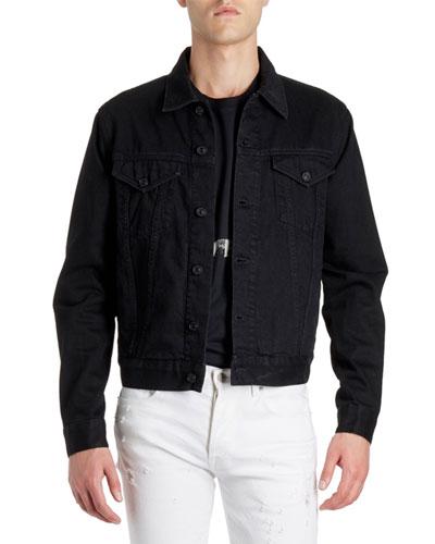 Men's Back Logo Denim Jacket