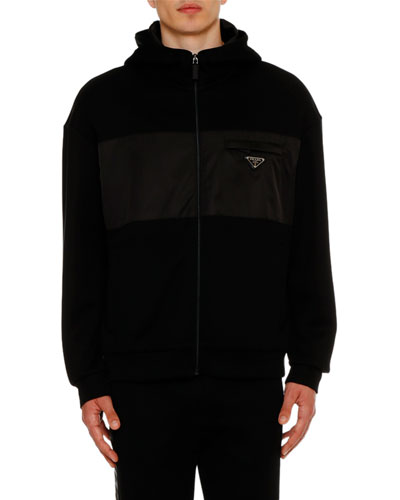 Men's Fleece Hooded Bomber Jacket
