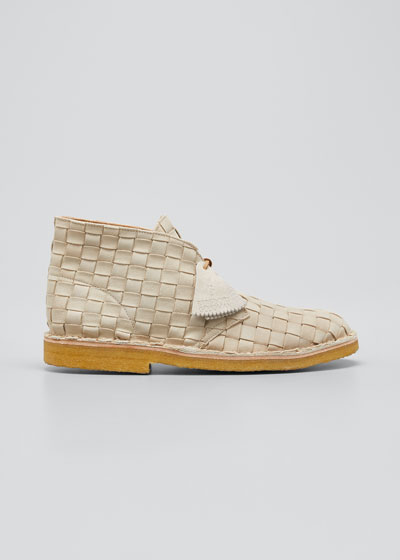Men's Woven Leather Desert Boot