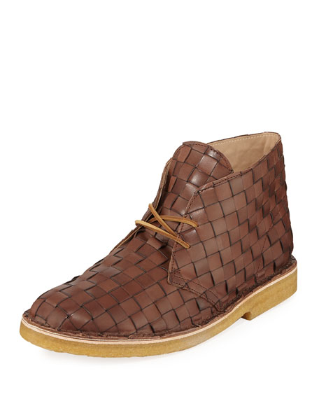 28a92ea2f635 B. x Clarks Originals Men's Woven Leather Desert Boot